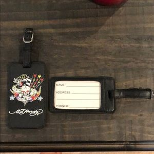 2 Authentic Ed Hardy luggage tags